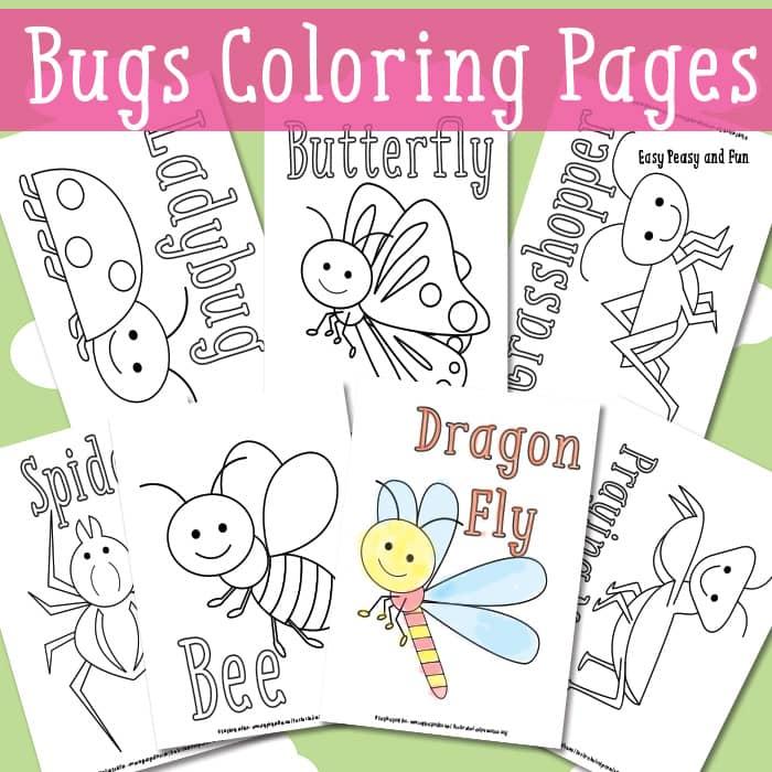 Páginas para colorear: bichos - Cuentos de Amatxu